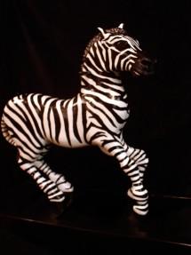 Rocking Zebra #1- carousel inspired