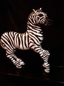 Rocking Zebra #1- carousel inspired