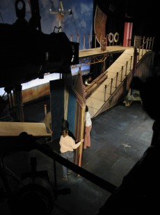 Act II Detail- Ramps and cabanas roll out during scene shift.