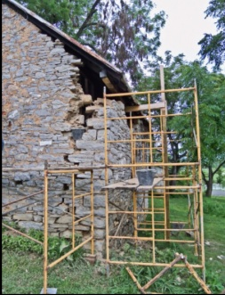Stone House masonry rebuild