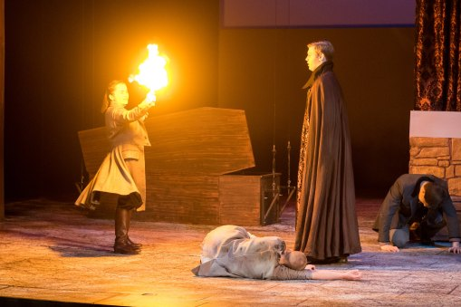 Flaming Cross effect- battery operated and actor-driven